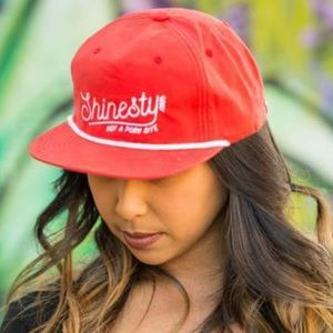 """NWT Shinesty Red """"Not A Porn Site"""" SnapBack Hat OS"""